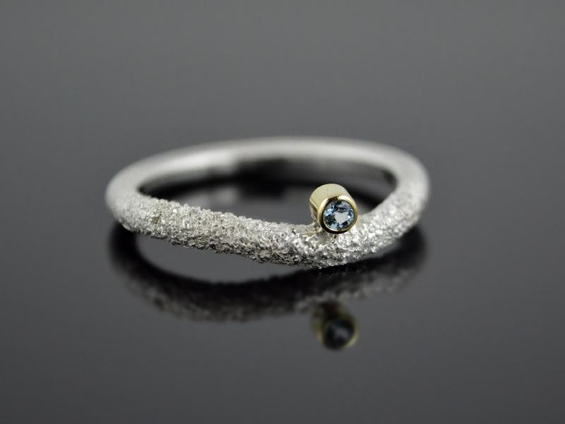 -  Silber-Ring ★Snake-Eye★  925er Silber 585er Gelbgold Topas -  Silber-Ring ★Snake-Eye★  925er Silber 585er Gelbgold Topas