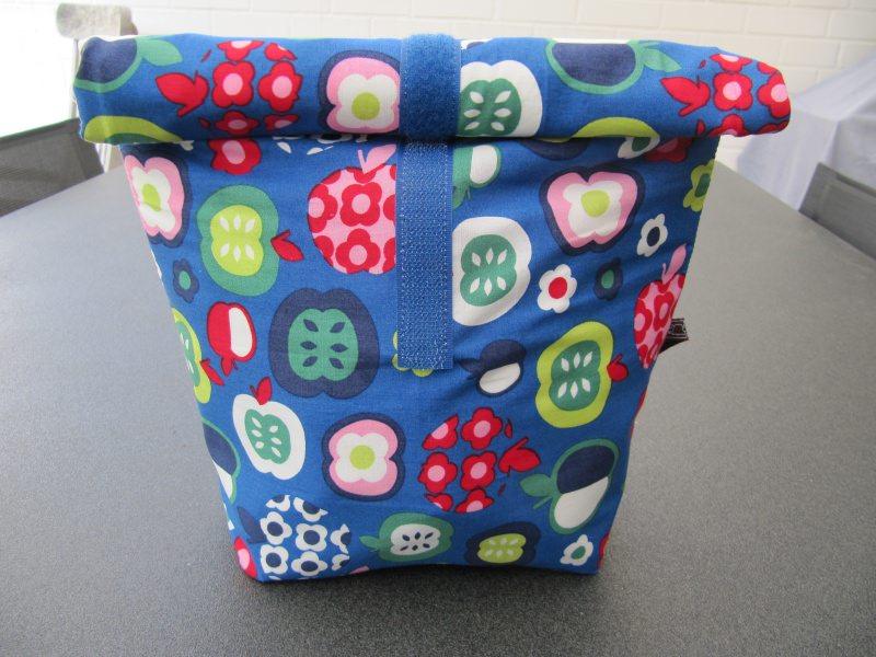 - Lunchbag - Rolltasche - Kulturtasche ,bunte Äpfel - Lunchbag - Rolltasche - Kulturtasche ,bunte Äpfel