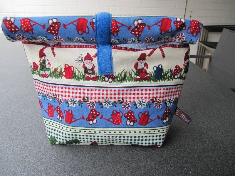 - Lunchbag - Rolltasche - Kulturtasche  ,Zwerge und Igel - Lunchbag - Rolltasche - Kulturtasche  ,Zwerge und Igel