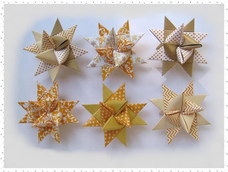 - 6 handgearbeitete Fröbelsterne in hübscher Box - 6 handgearbeitete Fröbelsterne in hübscher Box