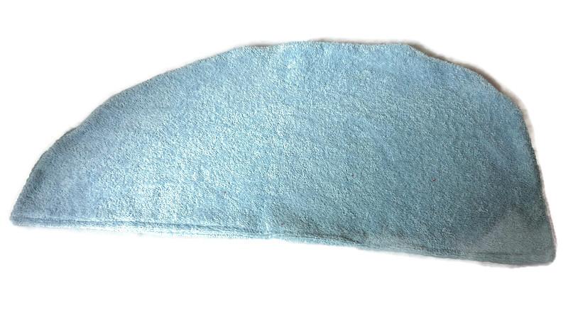 - Baumwoll Frottee Handtuch-Turban Haar-Turban hellblau - Baumwoll Frottee Handtuch-Turban Haar-Turban hellblau