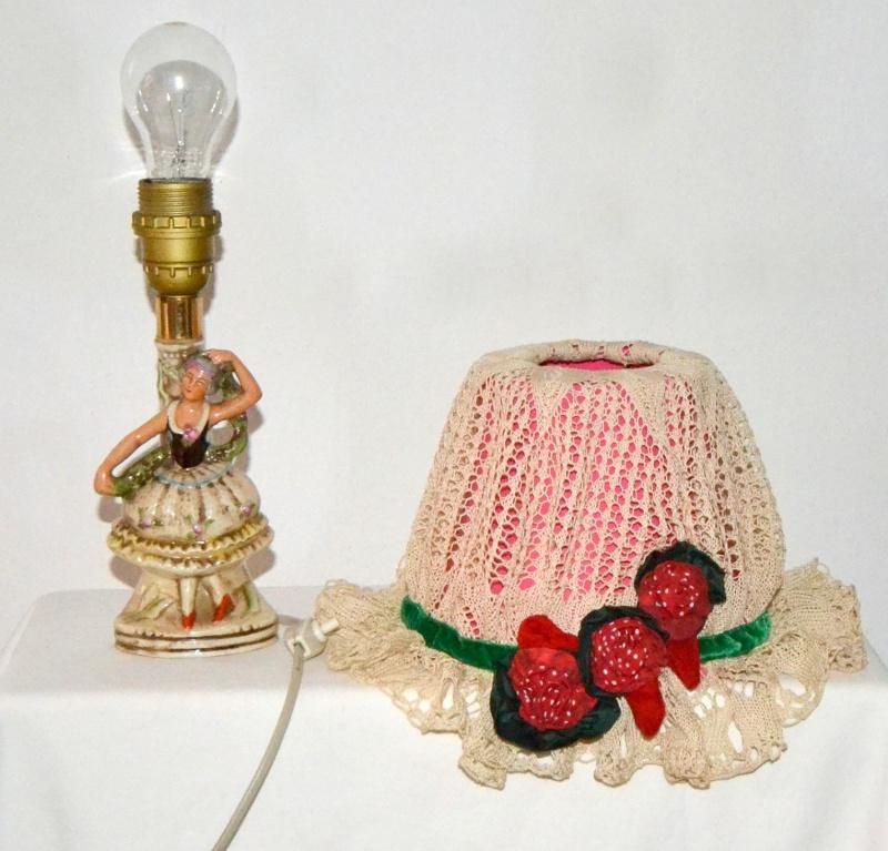 Kleinesbild - Nachtischlampe im Rokokostyle,Ballerina Nachtischlampe