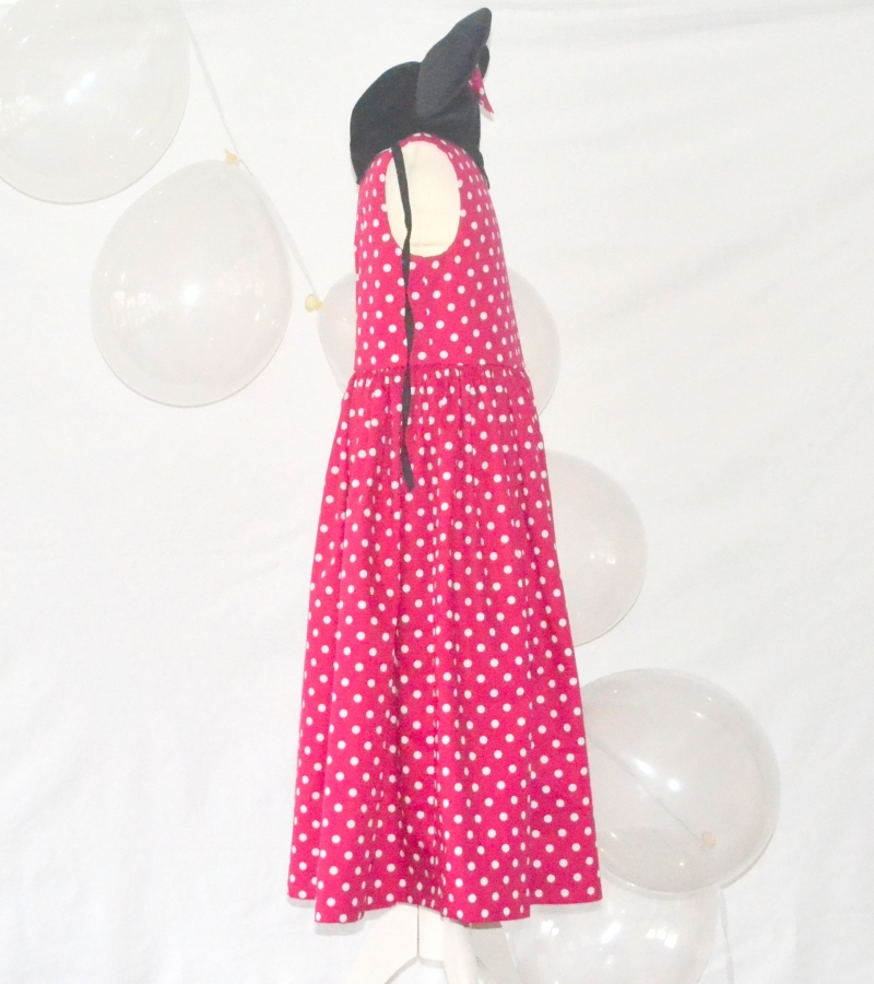 Kleinesbild - Pünktchenkleid,Minnie Maus,kleine Maus,Mädchenkleid