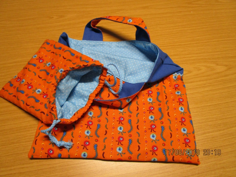 Kleinesbild - Kindergartentasche und Murmelsäckchen für den Kindergarten