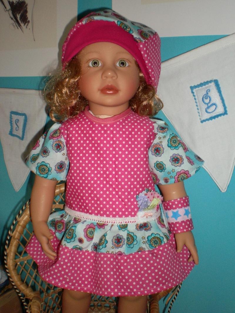 - eine wunderschönes 3tlg.  Set  für die Puppengröße  ca. 50 cm - Puppenkleidung - eine wunderschönes 3tlg.  Set  für die Puppengröße  ca. 50 cm - Puppenkleidung