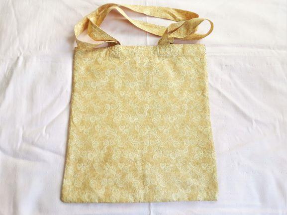 Kleinesbild - Stoffbeutel, Einkaufstasche, Mehrzweckbeutel in beige gemustert
