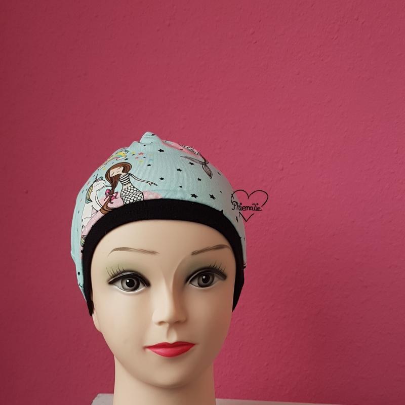 - Mütze * KU ca.53-54cm * Jersey * Meerjungfrau * Einhorn - Mütze * KU ca.53-54cm * Jersey * Meerjungfrau * Einhorn