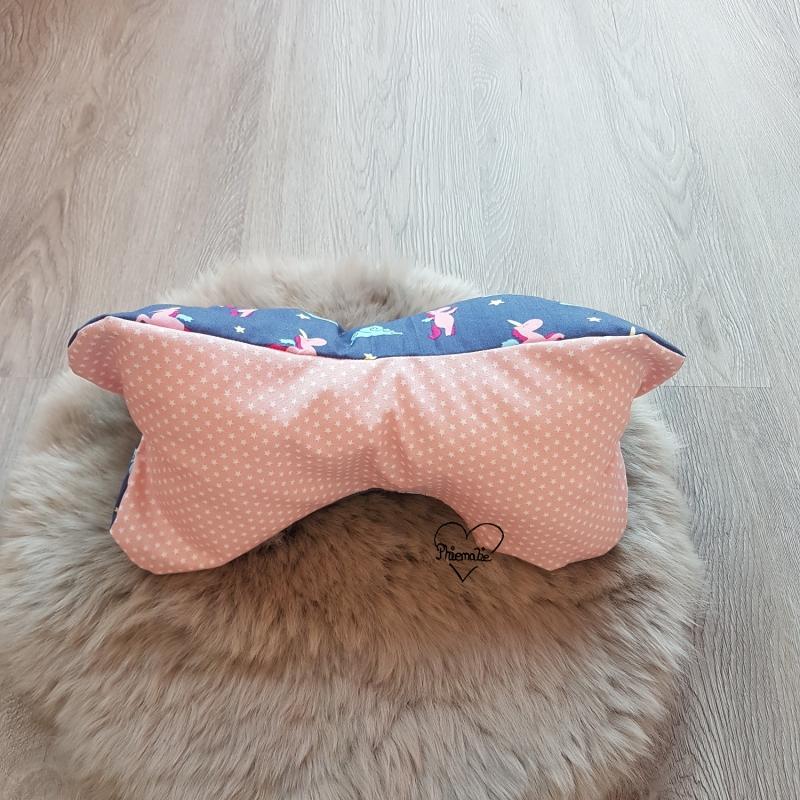 Kleinesbild - Leseknochen klein * Kissen * Einhörner * Sterne * blau * rosa * Name