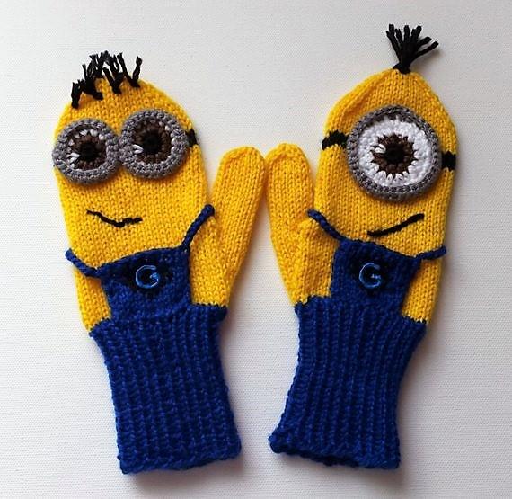 - Fäustlinge, Handschuhe Minions für Kinder 8-10 Jahre - Fäustlinge, Handschuhe Minions für Kinder 8-10 Jahre
