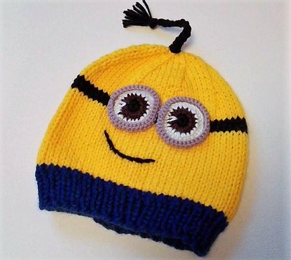 - Mütze, Haube für Kinder  Minions 1-2 Jahre - Mütze, Haube für Kinder  Minions 1-2 Jahre
