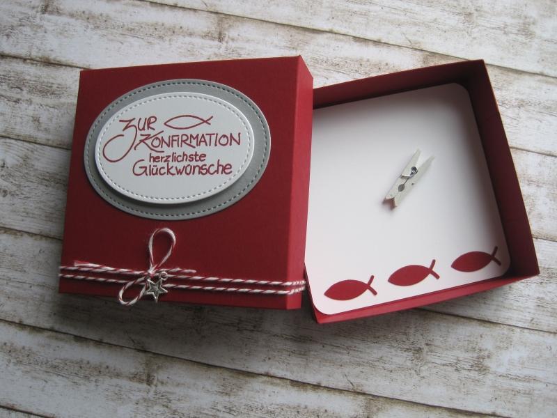 Kleinesbild - Geldgeschenk Konfirmation, Geschenkschachtel Konfirmation