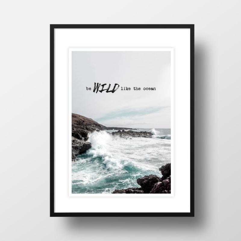 Kleinesbild - A4 Artprint Wild like the ocean