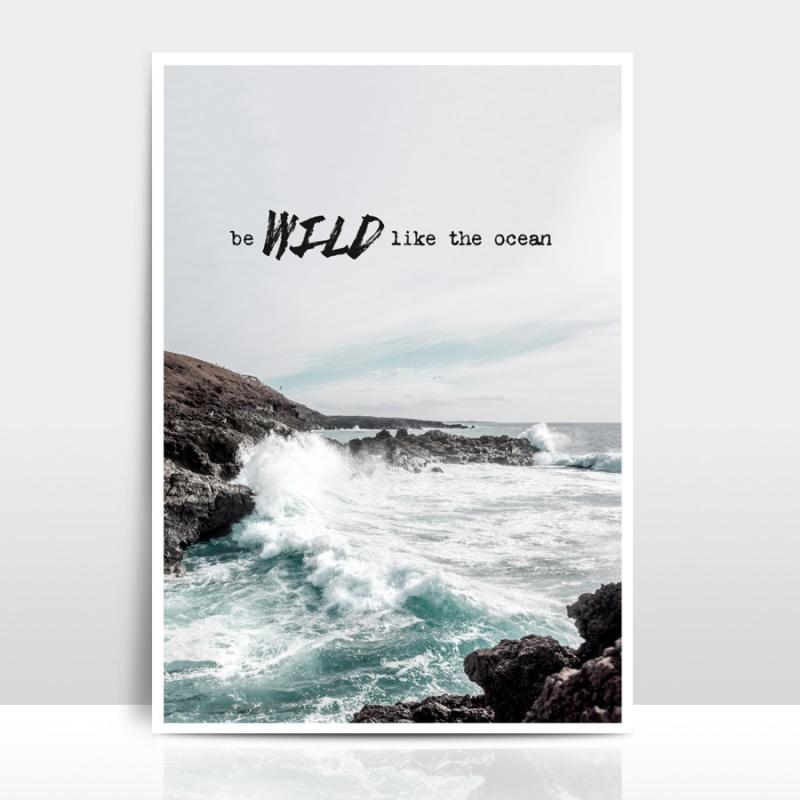 - A4 Artprint Wild like the ocean - A4 Artprint Wild like the ocean