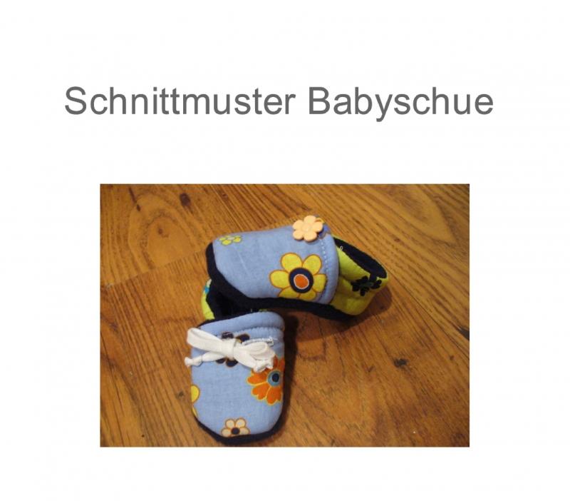 Nähanleitungen : Schnittmuster für Krabbelschuhe Babyschuhe Ebook Schuhe