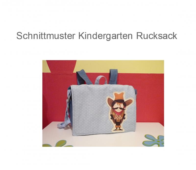Kinder : Schnittmuster Kindergarten - Rucksack Ebook Nähanleitung