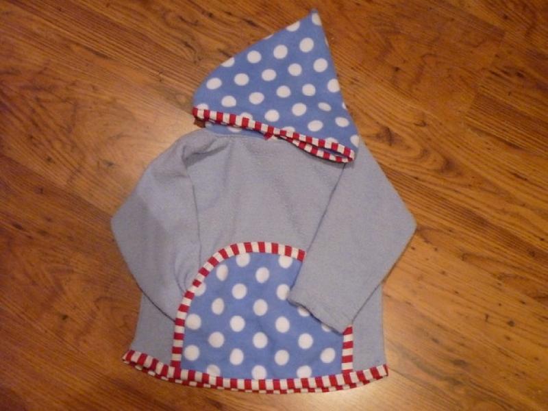 DIY-Anleitungen : DIY 50 / 56 - 128 Sweatshirt mit Kapuze ...