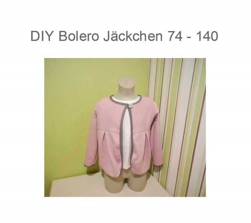 DIY-Anleitungen : DIY 74 - 140 Bolero Jacke Schnittmuster - Ebook ...