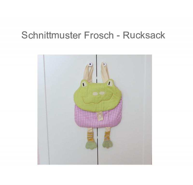 Nähanleitungen : Schnittmuster süßer Frosch Rucksack Ebook ...