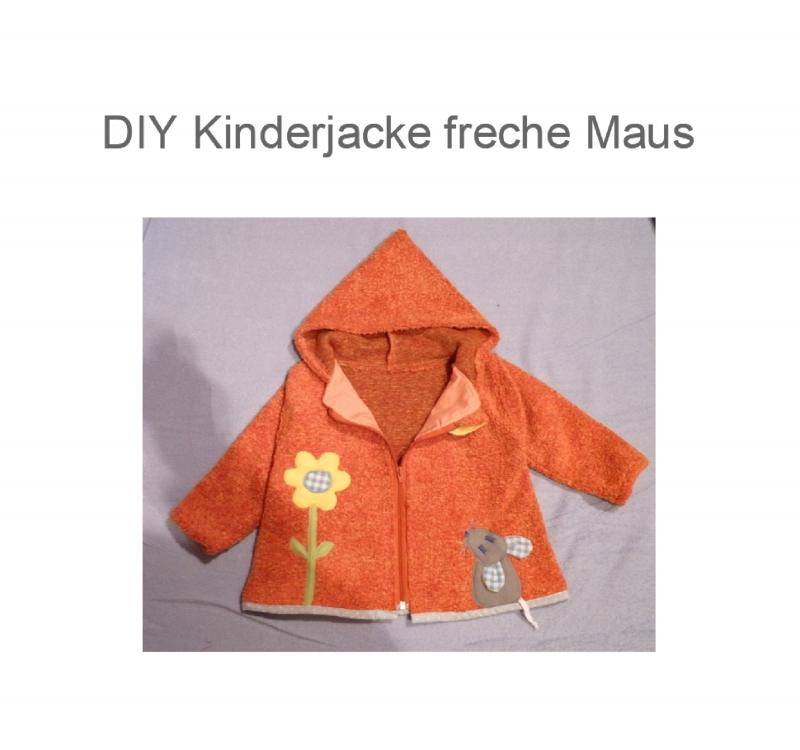 Kinder : DIY 50 - 128 - Jacke Schnittmuster Ebook Nähanleitung