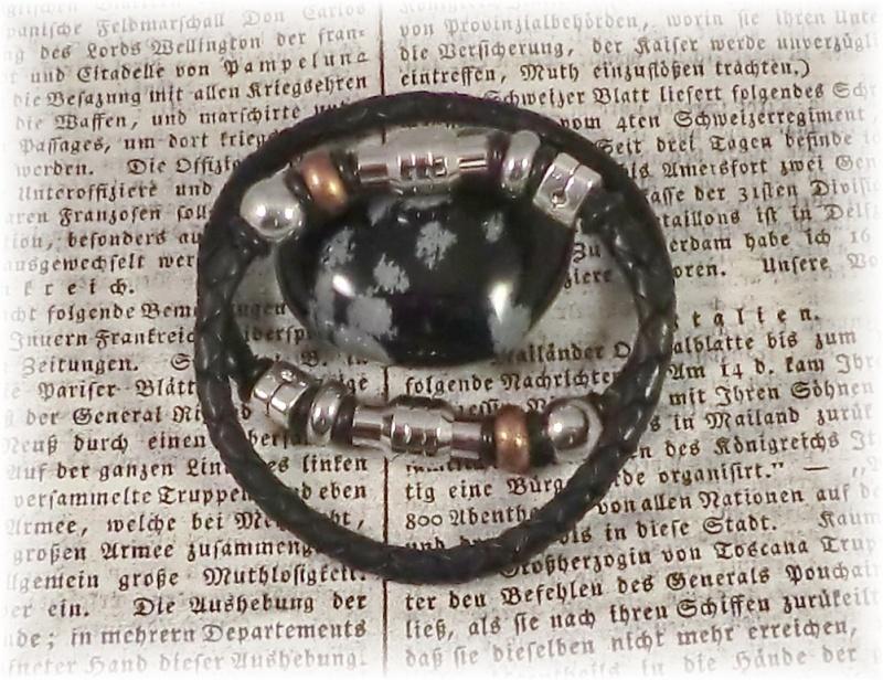 Kleinesbild - *Valentinstagsrabatt* #Anillo# handgefertigte Designerarmbänder aus Leder und Edelstahl für Paare