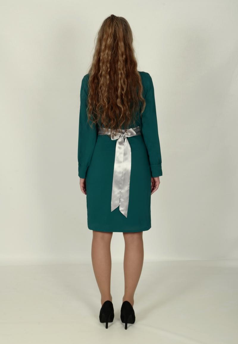 Kleinesbild - Umstandskleid Chiffon ül grün 36 38 40 42 44 46