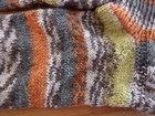 Kleinesbild - Socken ~ Strümpfe handgestrickt aus Schurwolle in orange - grau kaufen ~ ~Kuschelsocken ~ warme Füße