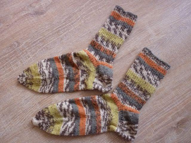- Socken ~ Strümpfe handgestrickt aus Schurwolle in orange - grau kaufen ~ ~Kuschelsocken ~ warme Füße - Socken ~ Strümpfe handgestrickt aus Schurwolle in orange - grau kaufen ~ ~Kuschelsocken ~ warme Füße