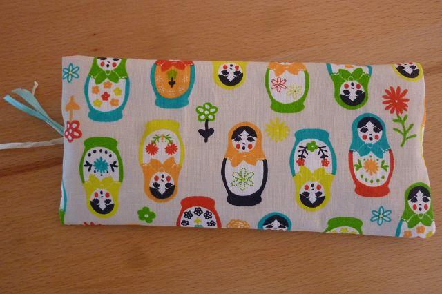 Kleinesbild - Taschen ~ Täschchen ~ Mäppchen ~ Etui ~ Stiftetäschchen genäht aus Baumwollstoff mit Matroschkas kaufen