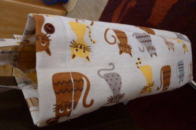 Kleinesbild - Shopper bzw. Schultertasche aus Baumwollstoffen mit Katzen genäht kaufen ~*~ Umhängetasche ~*~ große Einkaufstasche ~