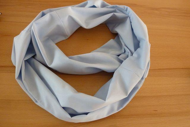 Kleinesbild - Schlauchschal ~ Loop ~  genäht aus Baumwollstoffen in hellblau kaufen ~ Wendeschal ~ Herbst/Frühjahr