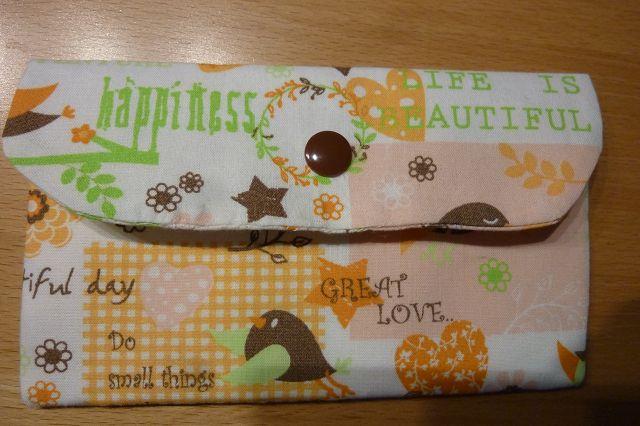 - Täschchen bzw. kleines Portemonnaie aus Baumwollstoff mit verschiedenen Motiven genäht kaufen in weiß-orange-grün - Täschchen bzw. kleines Portemonnaie aus Baumwollstoff mit verschiedenen Motiven genäht kaufen in weiß-orange-grün