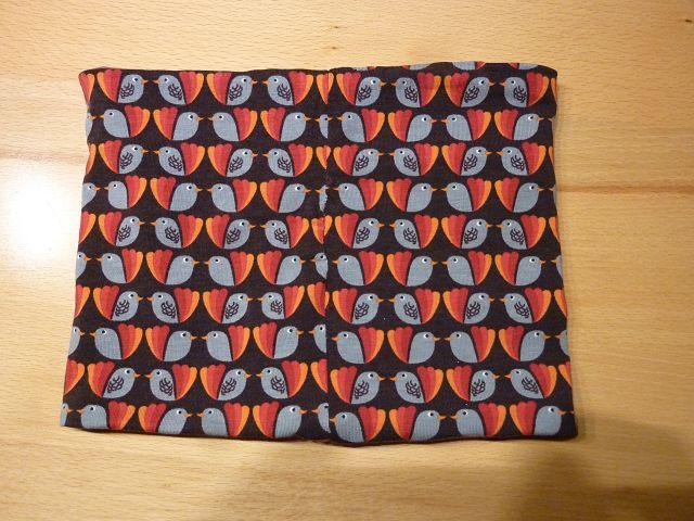 Kleinesbild - Kinderloop ~ Schlauchschal mit Vögeln und Streifen aus Baumwolljersey genäht kaufen~ Halssocke ~ Schlupfschal
