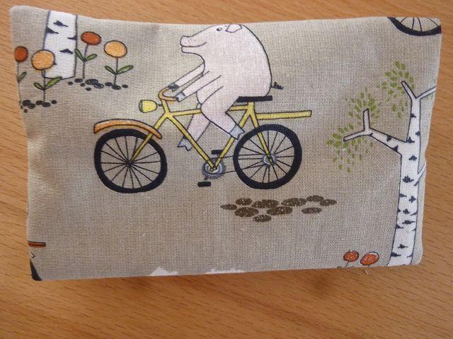 Kleinesbild - Taschentücher Tasche genäht aus Baumwollstoffen mit lustigen Tierfiguren kaufen * TaTüTa* Kosmetiktäschchen ~ griffbereite Taschentücher