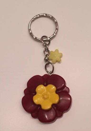 - Schlüsselanhänger Blume Rot/Gelb - Schlüsselanhänger Blume Rot/Gelb