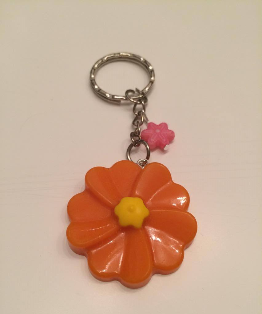 - Schlüsselanhänger Blume Orange/Gelb - Schlüsselanhänger Blume Orange/Gelb