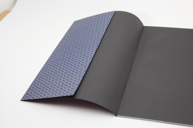 Kleinesbild - handeingebundenes Schreib-Heft mit Buntpapier aus dem Druckmuseum in Leipzig