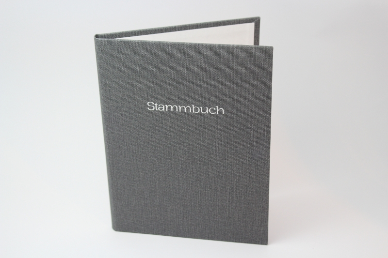 - Handgebundene Familien-Stammbuch-Mappe mit Prägung - Handgebundene Familien-Stammbuch-Mappe mit Prägung