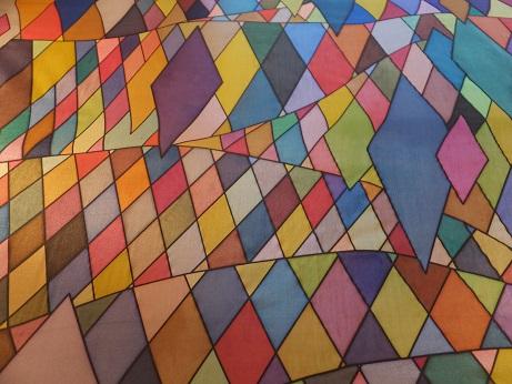 Kleinesbild - Seidentuch mit 521 verschiedenen einzelnen viereckigen Flächen