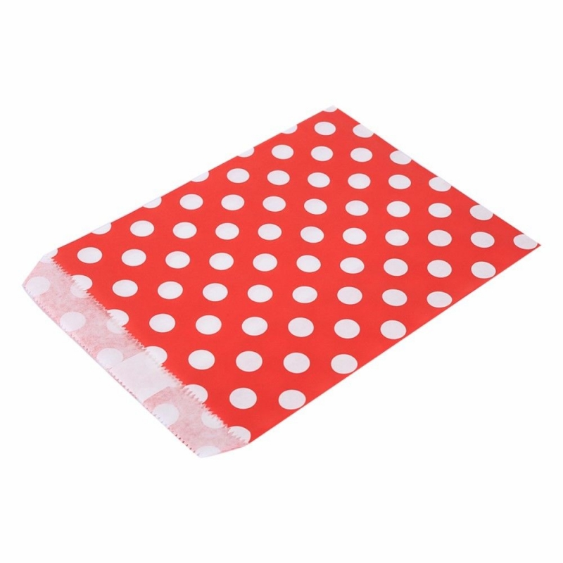 Kleinesbild - ♡ 10 Papiertüten Papiertüten gepunktet Polka dots Geschenktüten Candy Bar