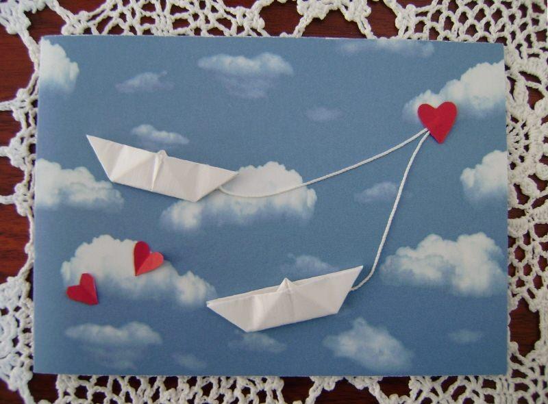 - Hochzeitskarte, Verlobungskarte, Origamikarte - Hochzeitskarte, Verlobungskarte, Origamikarte