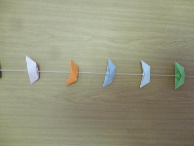 Kleinesbild - Girlande Boote, Papiergirlande, Origami