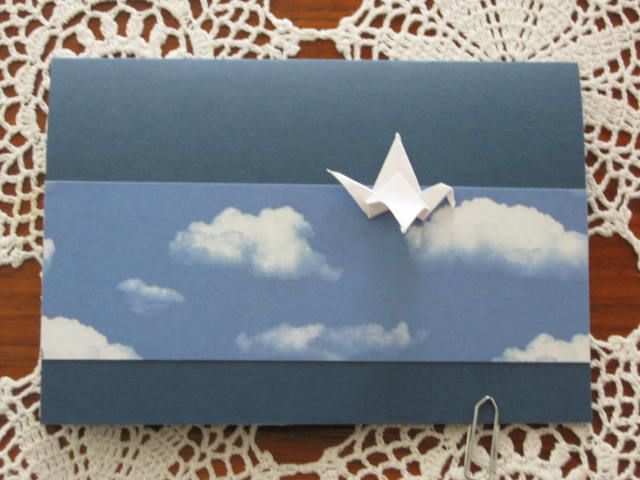 - Trauerkarte Kranich, Origamikarte - Trauerkarte Kranich, Origamikarte
