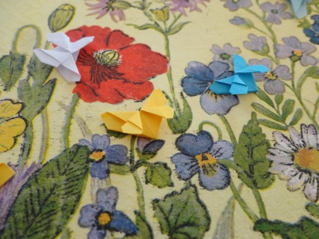 Kleinesbild - Karte Blütenwiese mit Schmetterlingen