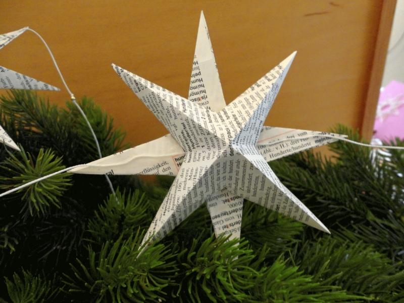 Kleinesbild - Sternenkette, Girlande, Upcycling