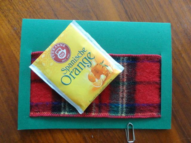 Kleinesbild - Karte für Teetrinker, Klappkarte, ohne Teebeutel