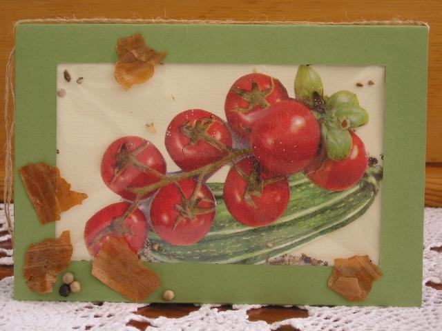 Kleinesbild - Karte mit Tomaten, Schüttelkarte