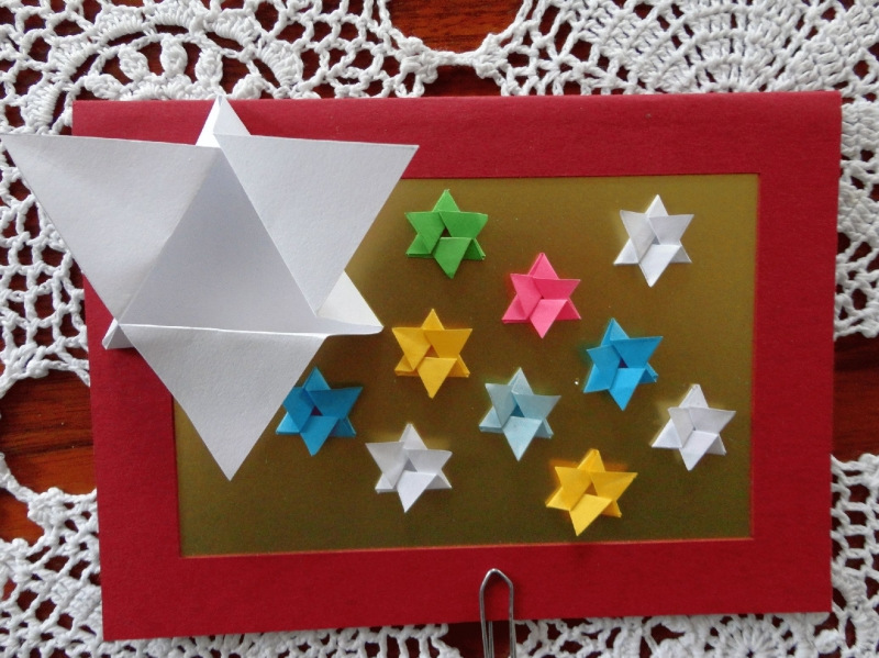 Kleinesbild - Weihnachtskarte Fröhliche Sterne