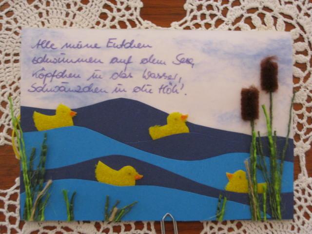 - Karte zur Geburt, Entchenkarte - Karte zur Geburt, Entchenkarte