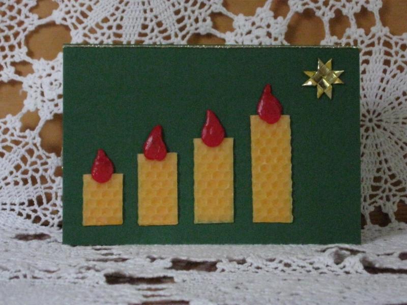 - Weihnachtskarte 4 Kerzen, Adventskarte - Weihnachtskarte 4 Kerzen, Adventskarte