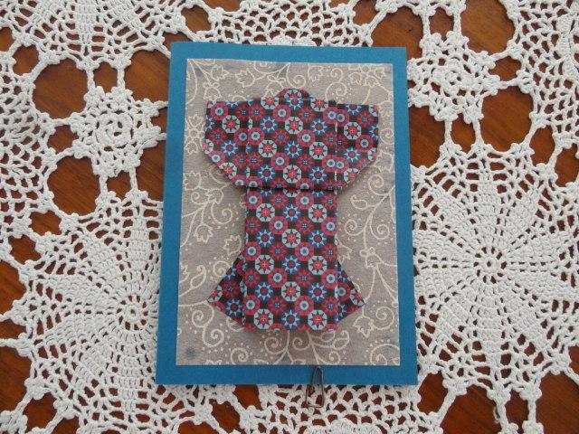 Kleinesbild - Karte Kimono, Origamikarte